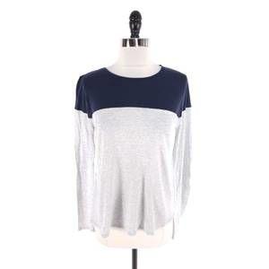 VINCE Colorblock Pima Cotton Long Sleeve Tee Shirt